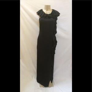 """BCBGMAXAZRIA """"NANCY"""" Size 10 Black Maxi Dress/Gown"""